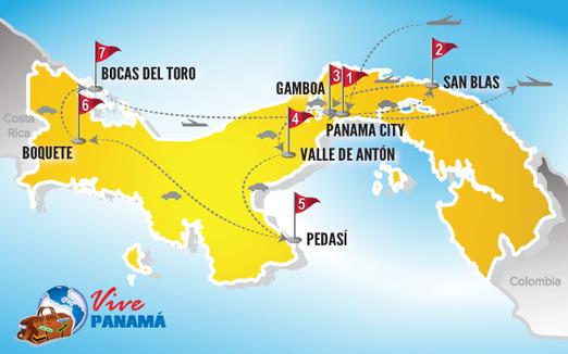 Viajes a Panama | Mapa estrellas