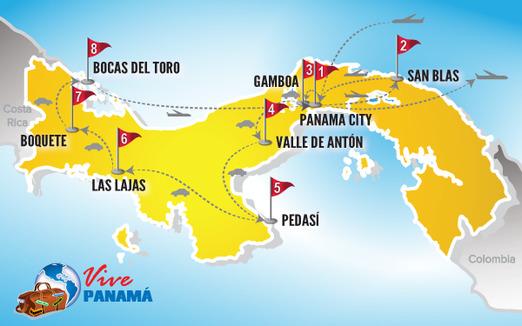 Viaje a Panama | Mapa estrellas